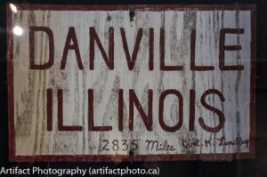 Reproduction of original sign by Carl Lindley