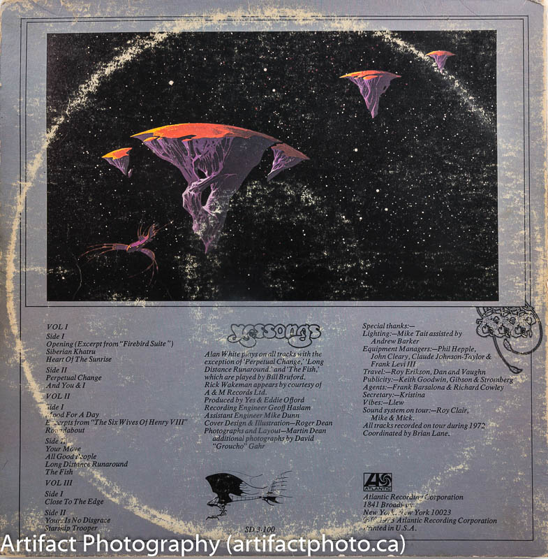 Yessongs back cover