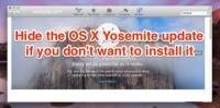 Hide Yosemite Update in the App Store