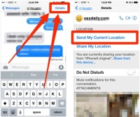 Instantly share your location with Messages