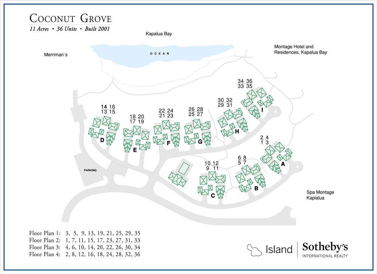 Coconut Grove Kapalua Map