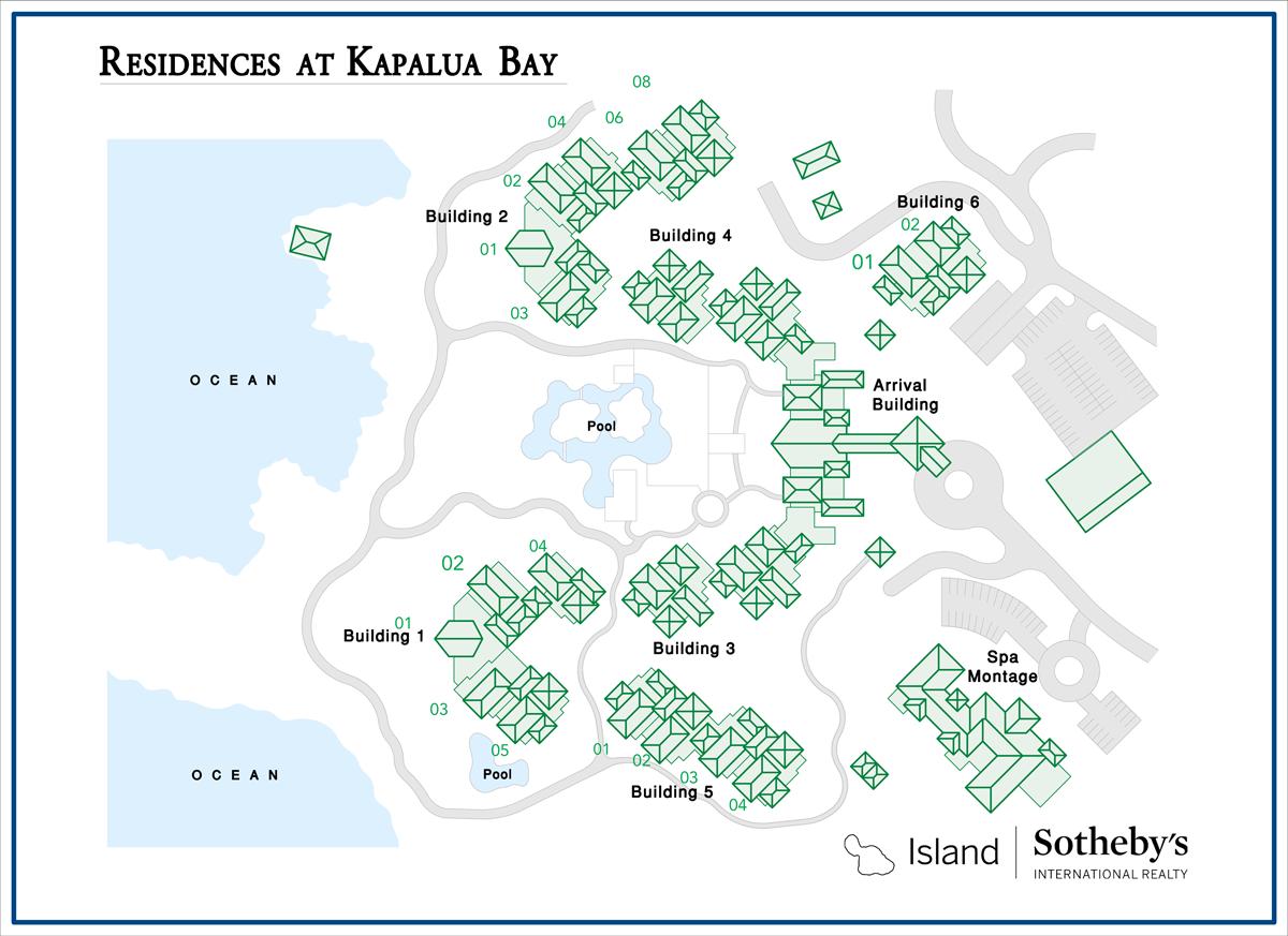 Montage Residences Kapalua Bay Map