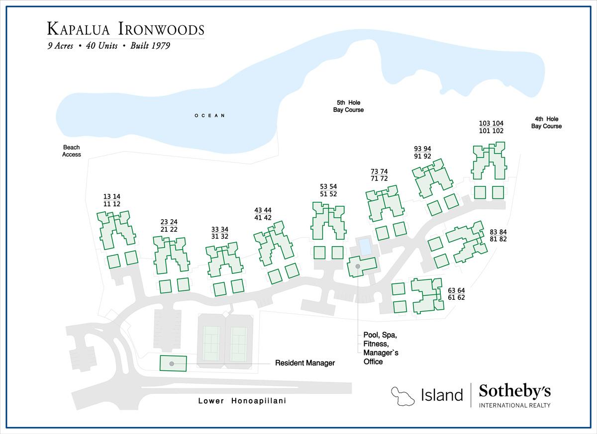 Map of the Kapalua Ironwoods