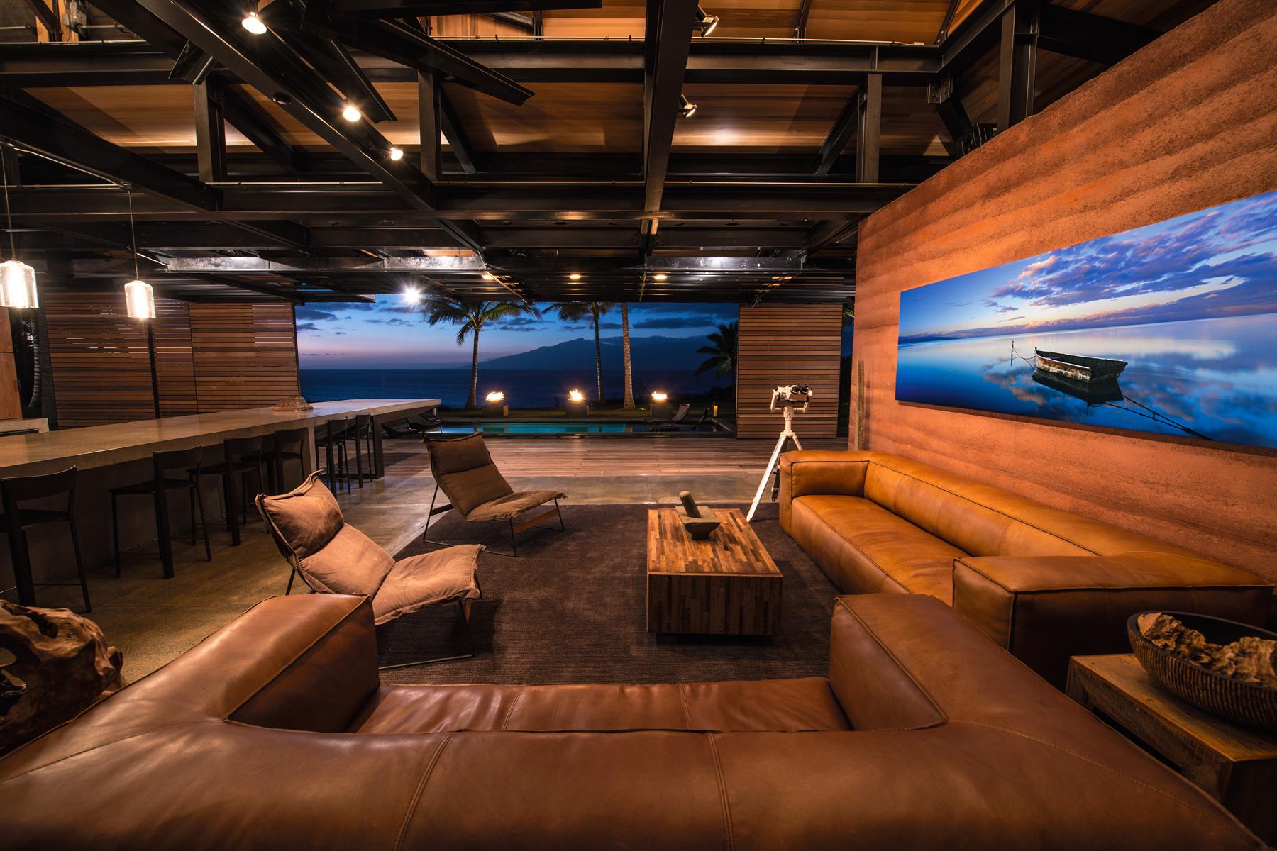 Honolua Bay Kapalua House for Sale Peter Lik Living Room