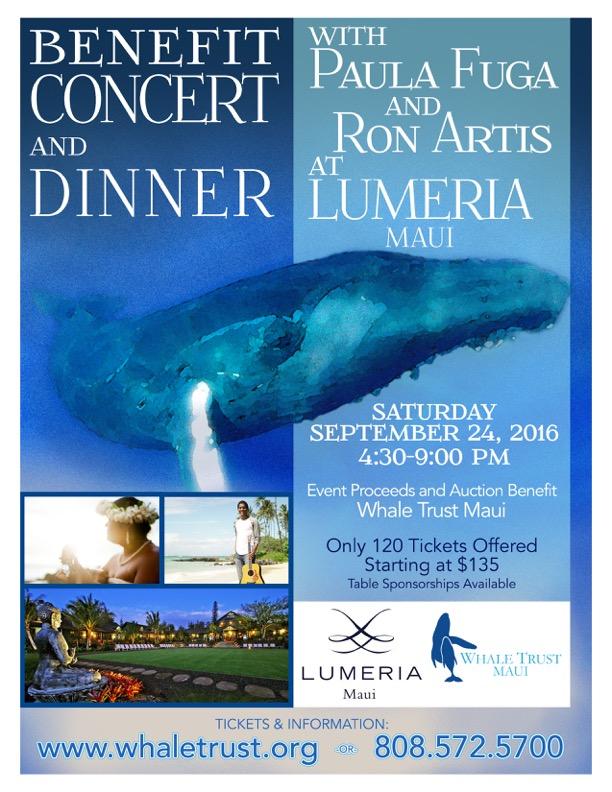 Lumeria Benefit Concert Whale Trust Maui