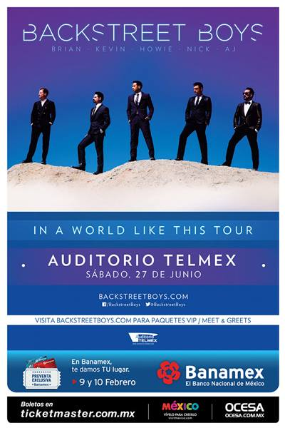 Backstreets boys en México 1