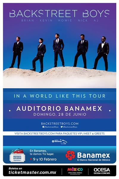Backstreets boys en México 2
