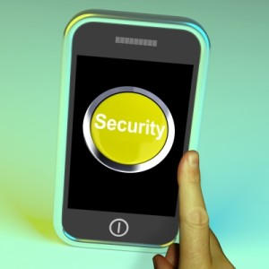 """Security Button On Mobile Screen"" by Stuart Miles / FreeDigitalPhotos.net"