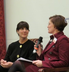 Mille Craig of Millani Perspectives and Sophie Brochu, President Gaz Metro on the IWF Ecpnomic Panel discussing Carbon Tax
