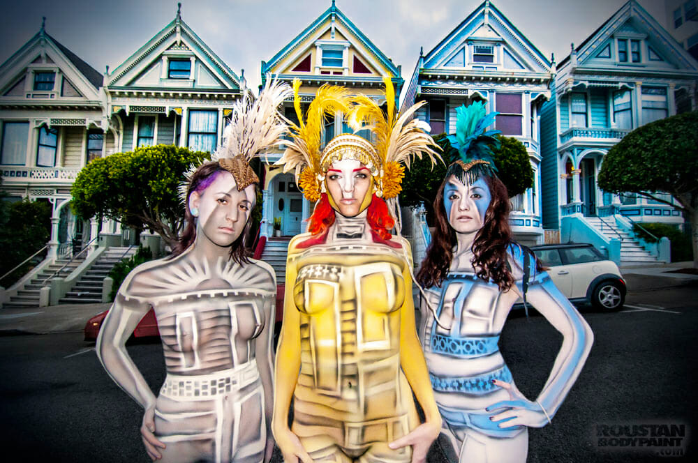Painted Ladies by Paul Roustan