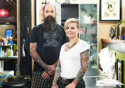 Jeff and April Cornell Tattoo Artists