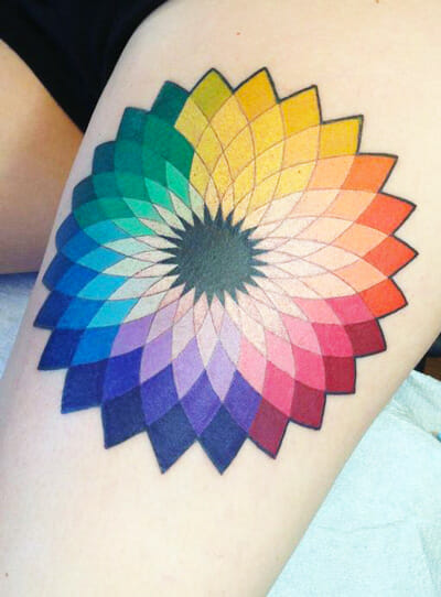 Color Wheel Tattoo by Curtis Dee Stairs