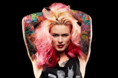 Tattoo Artist Model Azarja van der Veen