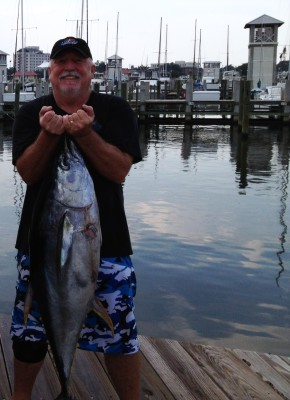 Frank Wilem with yellowfin tuna