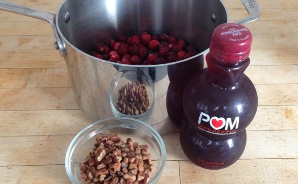 Pomegranate-Pecan Cranberry Sauce