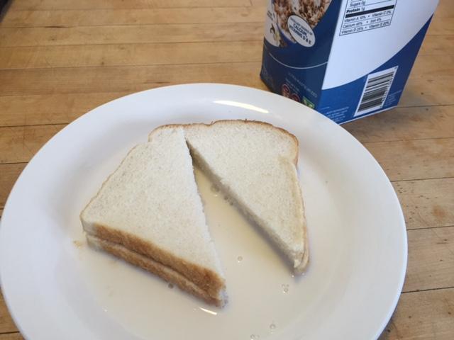 bread and milk sandwich