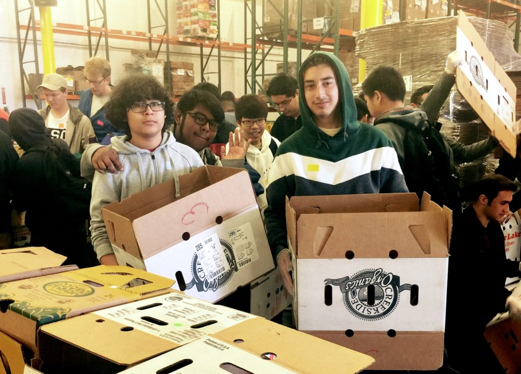 RKHS Students Serve Community at Los Angeles Food Bank