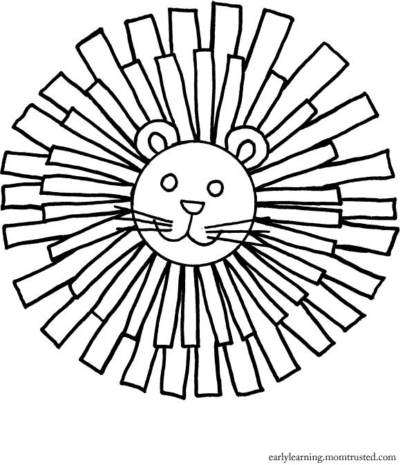 Lion Main Coloring Page - Preschool Activities And PrintablesPreschool  Activities And Printables