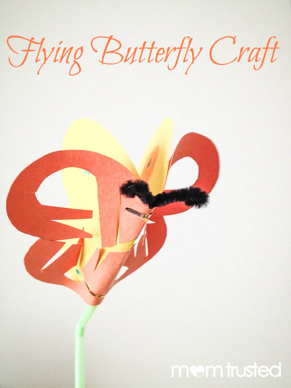 Flying Butterfly Craft by MomTrusted_com
