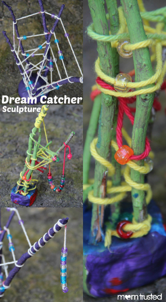 MomTrusted Dream Catcher Sculpture Project  Collage