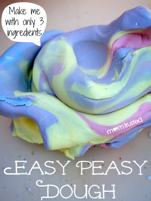 3 ingredient easy peasy dough by Mom Trusted