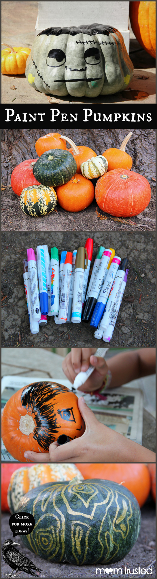 paint pen pumpkins by Mom Trusted title