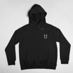 hoodie L.I. logo (black white)