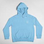hoodie L.I. logo (carolina blue white)