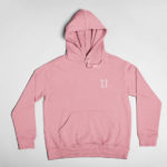 hoodie L.I. logo (pink white)