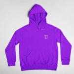 hoodie L.I. logo (purple white)