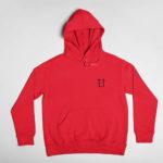 hoodie L.I. logo (red black)