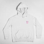 hoodie L.I. logo (white pink)