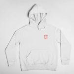 hoodie L.I. logo (white red)
