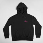 hoodie Single Plane logo (black pink)