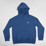 hoodie Single Plane logo (navy blue white)