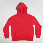 hoodie Single Plane logo (red black)