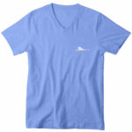 mens vneck single plane (carolina blue white)