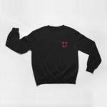 sweatshirt L.I. logo (black pink)