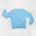 sweatshirt L.I. logo (carolina blue white)
