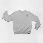 sweatshirt L.I. logo (grey black)