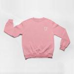 sweatshirt L.I. logo (pink white)