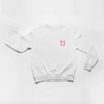 sweatshirt L.I. logo (white pink)