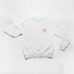 sweatshirt L.I. logo (white red)