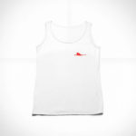 women_s tank Single Plane logo (white red)