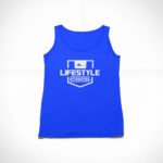 women_s tank Stamp logo (royal blue white)