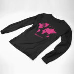 longsleeve MAP logo (black pink)