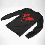 longsleeve MAP logo (black red)