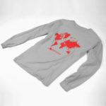 longsleeve MAP logo (gray red)