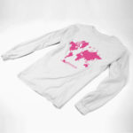 longsleeve MAP logo (white pink)