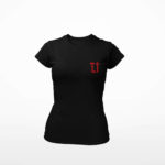 women_s tee L.I. logo (black red)